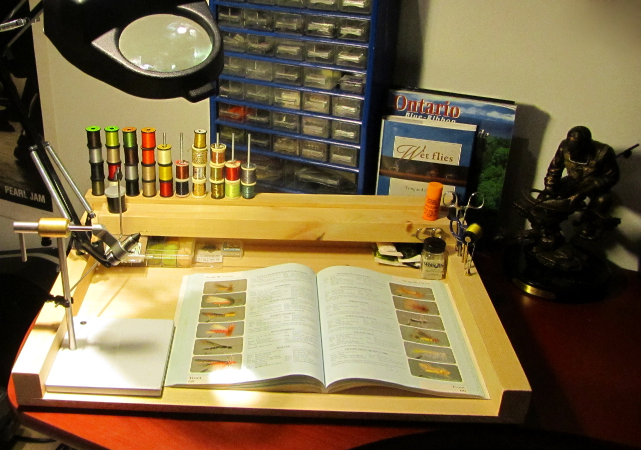 Initial version of my portable fly tying station