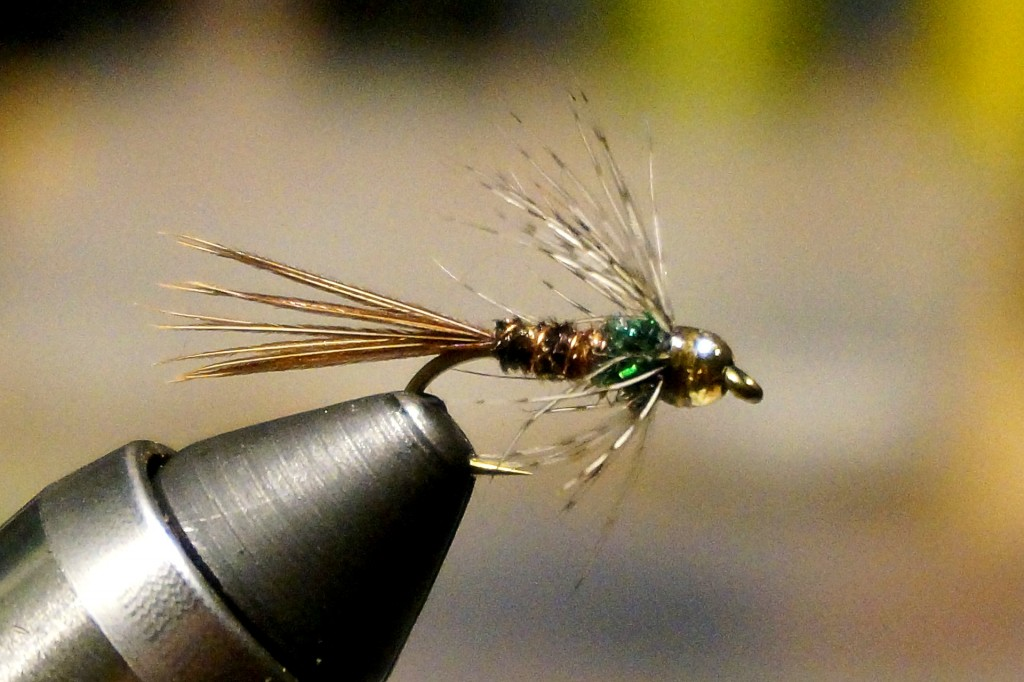 Bead Head Soft Hackle Pheasant Tail: One of my favorite sub-surface flies, especially for pocket water and small streams