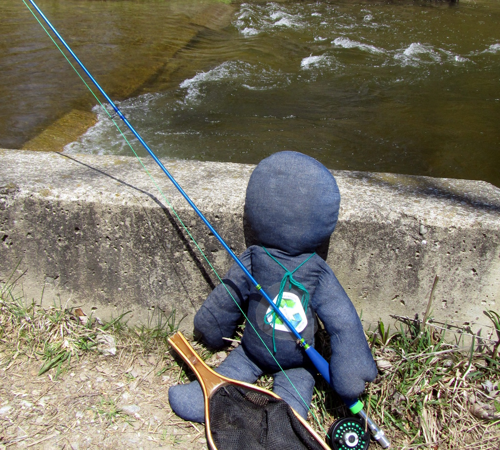 NOBODY doll, learning to fly fish