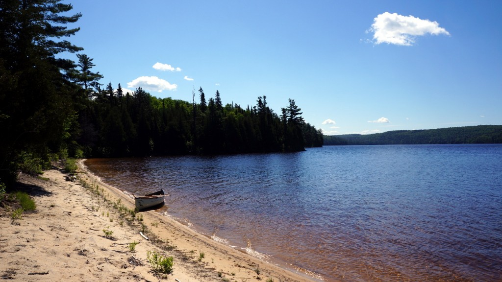 Part of a large section of beach on Big Crow Lake