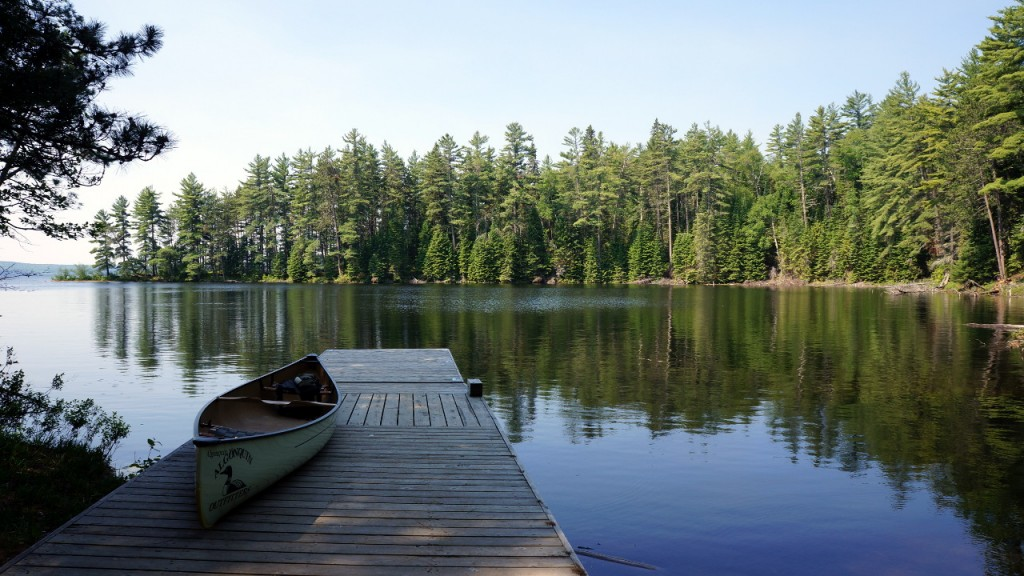 At the Opeongo - Proulx Lake portage at 10:45 am