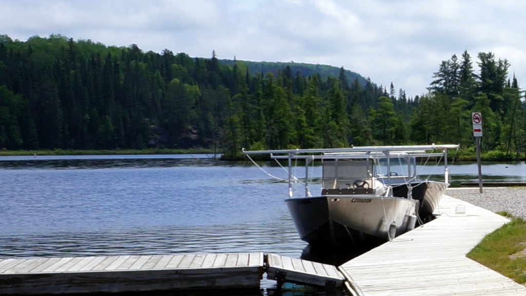Back at the Opeongo access point, with skies clearing