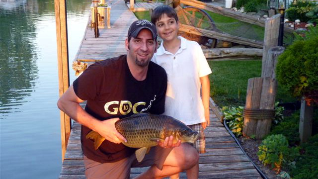 My first and only Carp on a fly rod. I caught this with my son while casting off a dock in my father's back yard.