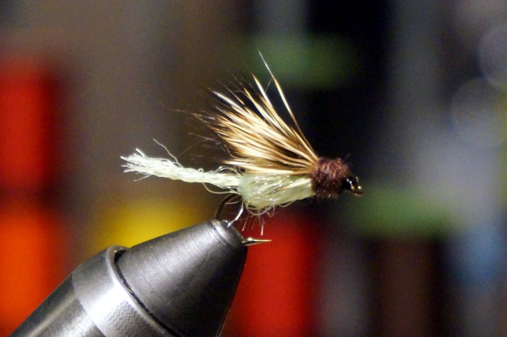 A sparkle caddis pupa emerger, which (in various styles) has done well on the Grand