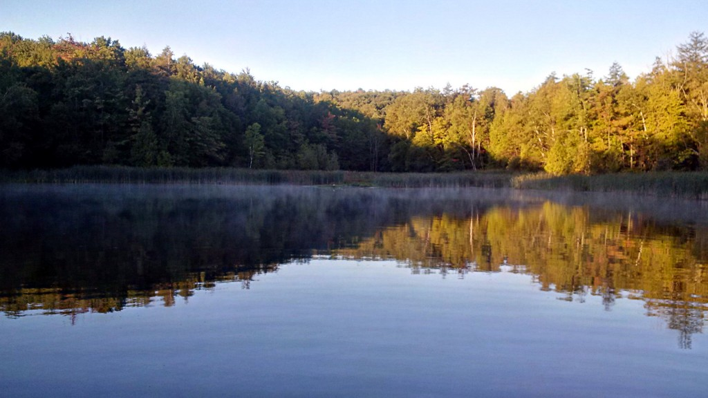 Early morning view from one of Glen Haffy's trout ponds